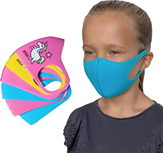 BEOLA Washable Face Kids Mask Non Medical For Children Bella Reusable Boys Girls(6 pcs multicolor)