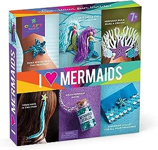 Craft-tastic – I Love Mermaids Kit – Craft Kit Includes 6 Mermaid-Themed Projects