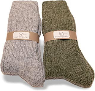 2 Pairs - Heavy Alpaca Socks - EVEREST Collection - warm and comfortable, in an assortment of two colors