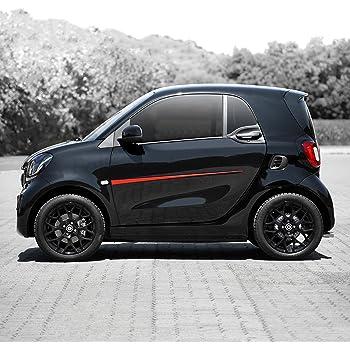RONSHIN Accessori per veicoli Accessori per lo styling dellauto Adesivo di protezione per la decorazione della porta in fibra di carbonio per Smart Fortwo Forfour