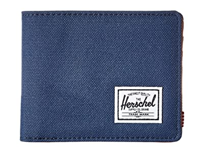Herschel Supply Co. Hank RFID (Navy/Tan Synthetic Leather) Wallet Handbags