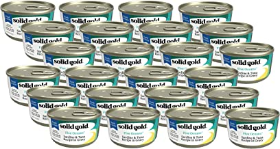 (24 Pack) Solid Gold Grain-Free Sardines and Tuna in Gravy Canned Cat Food, 3 Ounces each