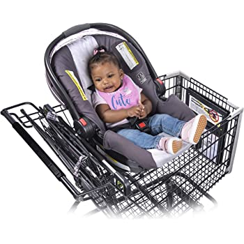 Totes Babies Shopping Cart Car Seat Carrier for Baby Newborns Infants Toddlers | Designed for Safety, Comfort, Convenience & Easy Interaction with Baby
