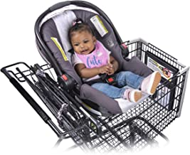 shopping cart with car seat holder