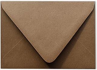 Grocery Bag Brown 50 Boxed A2 Contour Euro Flap Kraft 80lb Envelopes (4 3/8 x 5 3/4) for 4-1/8 x 5-1/2 Enclosures Response...