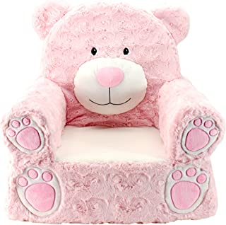 Animal Adventure Sweet Seats | Pink Bear Children's Chair | Large Size | Machine Washable Cover