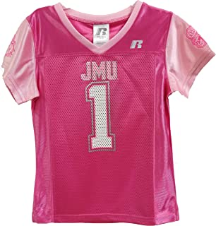 4c588a356ca RussellApparel James Madison University Girls Youth Short Sleeve Football  Fan Jersey