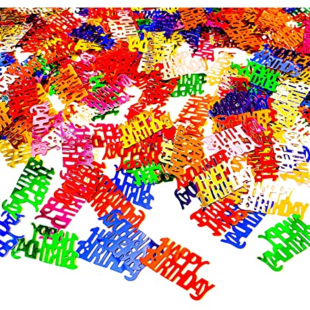 40-pieces die cuts Birthday Wishes word confetti with attached gift and balloon images scrap booking table scatter embellishments