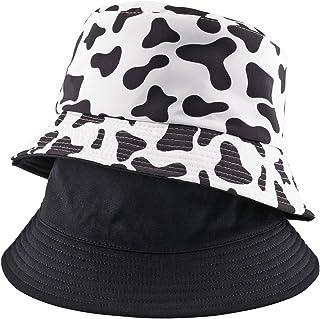 قبعة دلو قابلة للعكس للنساء والفتيات والمراهقات قابلة للطي على الشاطئ للحماية من الشمس - نسيج ممتاز