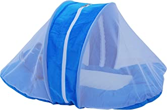 Amardeep and Co Toddler Mattress With Mosquito Net Blue 70*40 Cms