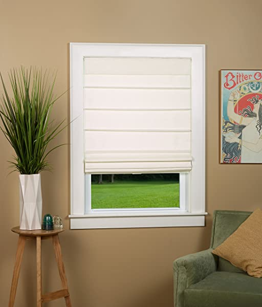 Cosmo Insulated Cordless Roman Shade 38 W X 64 Long Color Alabaster