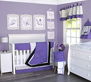 Pam Grace Creations 13 Piece Butterflies & Dragonflies Crib Bedding Set