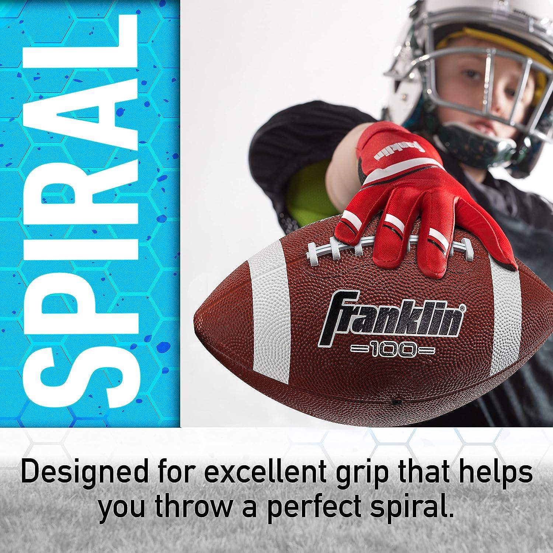 Franklin Sports Grip Rite 100 Rubber Junior Football : Sports & Outdoors