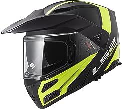 LS2 Helmets Modular Metro V3 Helmet (Matte Black / Glossy Hi-Vis Yellow - XXX-Large) Size- XXX-Large