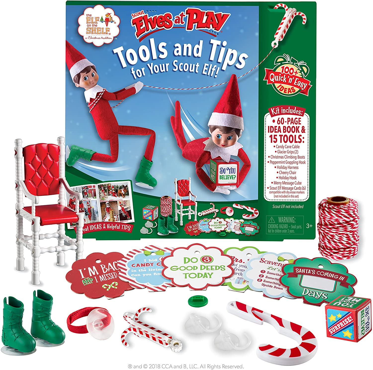 Elf On The Shelf Scout Elves at Play Kit and Set | Elf on a Shelf Christmas Accessories, Ideas and Props for Kids and Adults