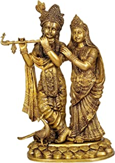 Large Size Radha-Krishna - Brass Statue