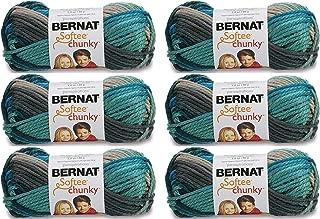 Bernat Bulk Buy Softee Chunky Ombre Yarn (6-Pack) Deep Waters 161129-29632