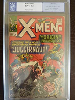 X-men #12 (1st Appearance / Origin Juggernaut) Professionally Graded (Good / Very Good 2.0) (Uncanny X-men, 1)