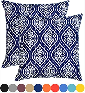 Urban Style Decor Decorative Throw Pillow Cover Cushion Cover Pillow Cases 18 x 18, Set of 2, Navy Blue