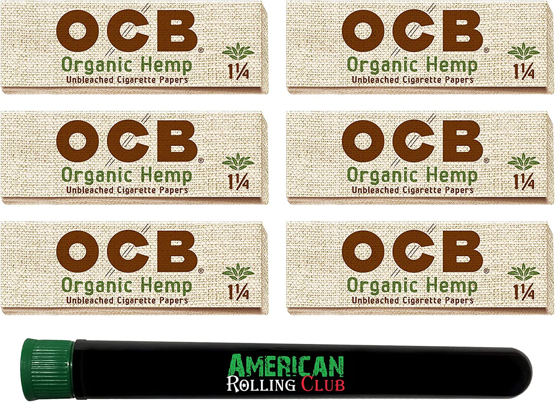 OCB Cheap Organic Hemp Cigarette Rolling Papers Pack Overseas parallel import regular item Inclu 1 ~ 4~6