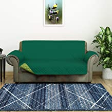 @home by Nilkamal Reversible 2 Seater Polyester Sofa Cover, Emerald & Light Green