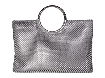 Jessica McClintock Sonia (Silver) Clutch Handbags