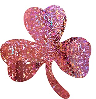 3-Leaf Pink Shamrock Decal 4