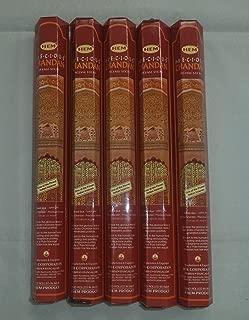 HEM Precious Chandan 100 Incense Sticks (5 x 20 stick packs)