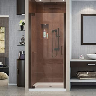 DreamLine Elegance 32 1/4 - 34 1/4 in. W x 72 in. H Frameless Pivot Shower Door in Oil Rubbed Bronze, SHDR-4132720-06