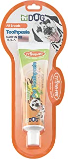 EZ Dog 3-Sided Toothbrush for Brushing Dog's Teeth | Best Dental Care for Dogs for Fresh Breath | Dogs Love The Taste