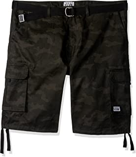 Pro Club Men`s Twill Cargo Short Pants - Black Camo