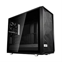 Fractal Design Meshify S2 - Mid Tower Computer Case - Airflow/Performance - 3X Silent Fans and Nexus Hub - PSU Shroud - Modular Interior - Water-Cooling Ready - USB Type C - Blackout Tempered Glass