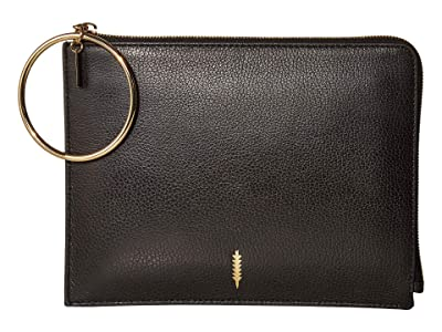 THACKER Gable Ring Travel Pouch (Black) Clutch Handbags