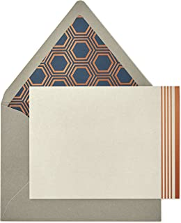 Hallmark Signature Gold Blank Cards, Rose Gold Stripe (10 Cards with Envelopes)