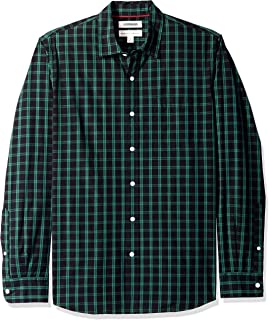 Amazon Brand - Goodthreads Men's Standard-Fit Long-Sleeve Plaid Poplin Shirt