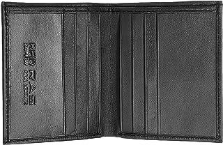 RAS Mens RFID Safe Soft Genuine Leather Credit Card and Banknote Pocket Slimline Wallet 122 (Black)