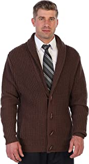 Men's Toggle Button Cardigan Knitted Regular Fit Sweater