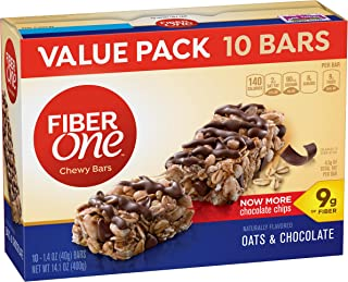 Fiber One Fiber 1 Oats and Chocolate Bar Value Pack, 1.4 OZ 10 Count