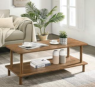 Furnitela Wood Coffee Tables for Living Room, Rustic Farmhouse Coffee Table 47 inch
