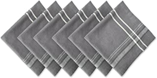DII 100% Cotton Everyday French Stripe Tabletop Collection, Napkin Set, Gray Chambray 6 Count