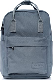 Small Casual Lightweight Mini Travel Backpack Purse with Top Handles Waterproof for Women (Poly-Grey)