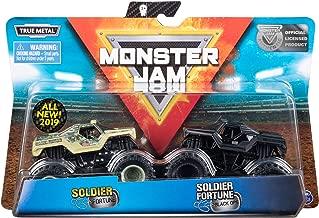 Monster Jam Soldier of Fortune vs. Black Ops Die-Cast Monster Trucks, 1:64 Scale, 2 Pack