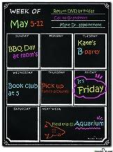 Dry Erase Calendar Magnetic Chalkboard Design Flexible Black Magnet Board for Refrigerator Black Fluorescent Magnetic Orga...