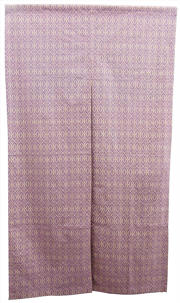 債務者穿孔するぴかぴかGV のれん 綿素材 ムガール パープル 85×150cm