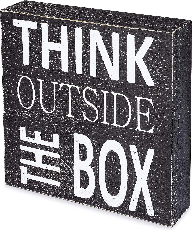 ILINKA Box Sign Inspirational Wood Dec Las Vegas Mall Fashionable Home Office for