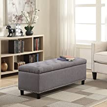 Best gray fabric bench Reviews