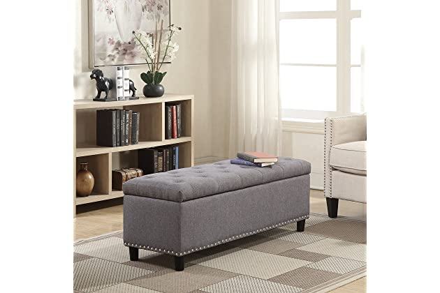 Swell Best Gray Storage Benches For Bedroom Amazon Com Uwap Interior Chair Design Uwaporg