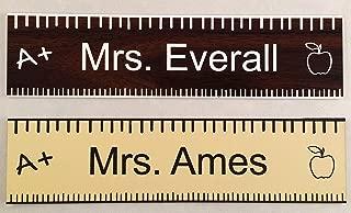 Teacher Office Desk Name Plate or Door Sign - Laser Engraved Signage - School Teacher Appreciation Gift! Walnut - Customize