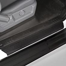 Red Hound Auto Custom Fit 2009-2014 Compatible with Ford F-150 Crew Cab SuperCrew Door Step Sill Scuff Plate Protectors Shield 4 Dr 4pc Kit 2010 2011 2012 2013 Paint Guard Paint Protection