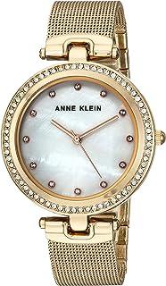 Anne Klein Womens Quartz Watch, Analog Display and Stainless Steel Strap AK/2972MPGB
